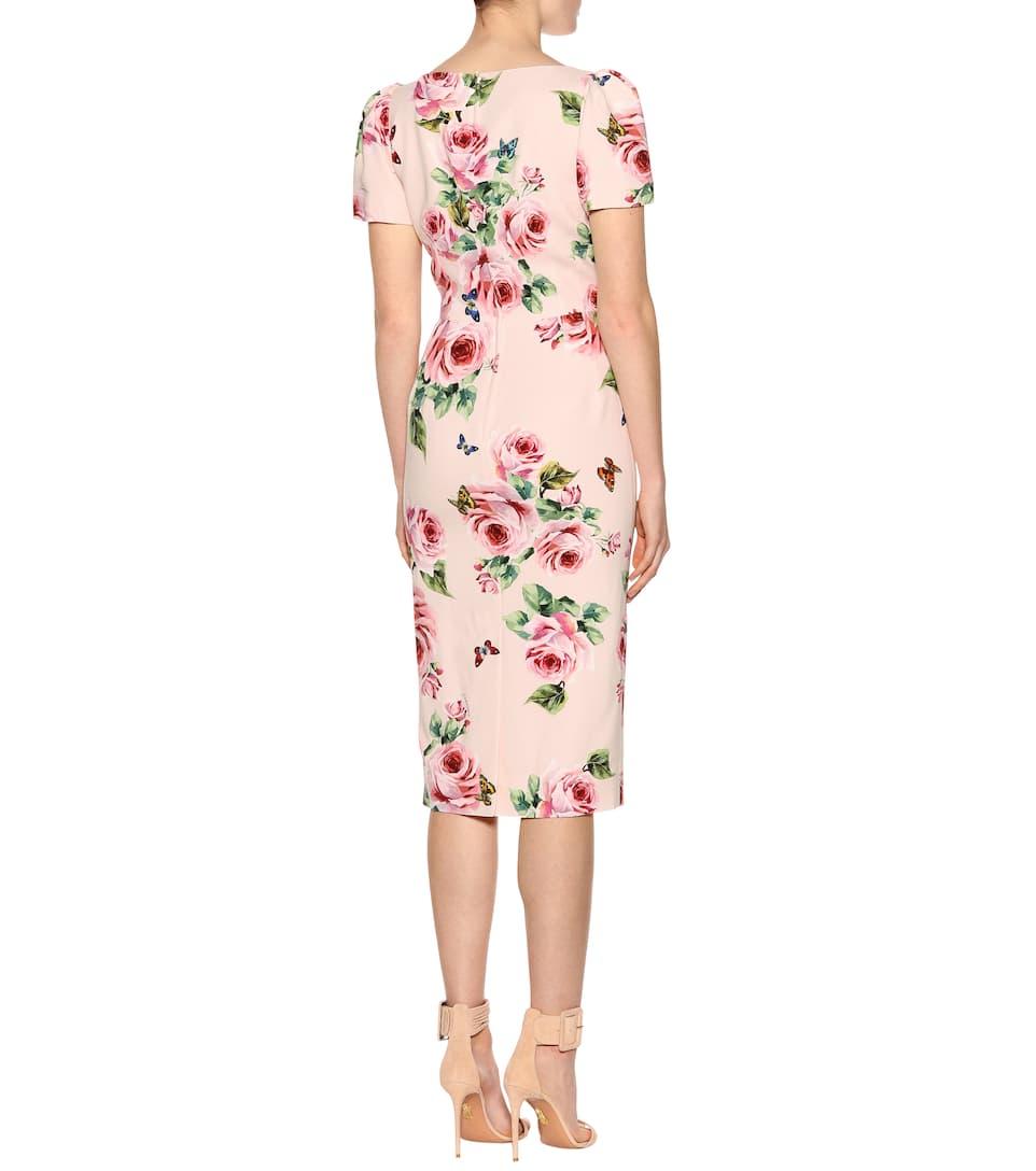 Dolce & Gabbana Bedrucktes Etuikleid aus Stretch-Seide