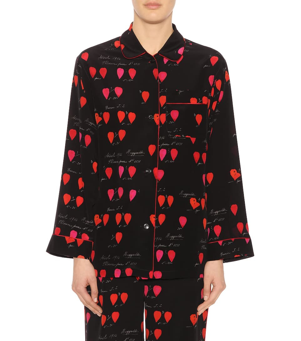 Alexander McQueen Pyjama-Oberteil aus Seide