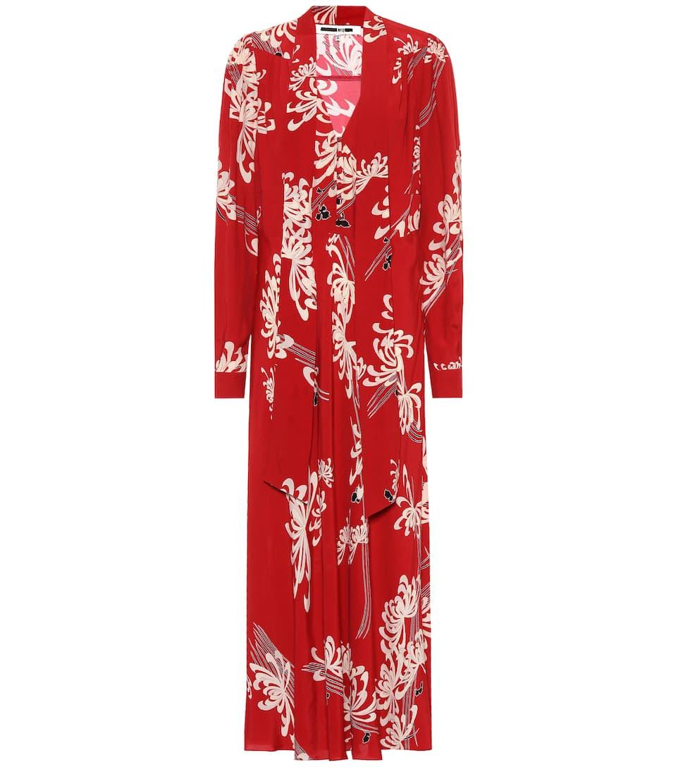 McQ Alexander McQueen - Robe longue imprimée Japanese Floral