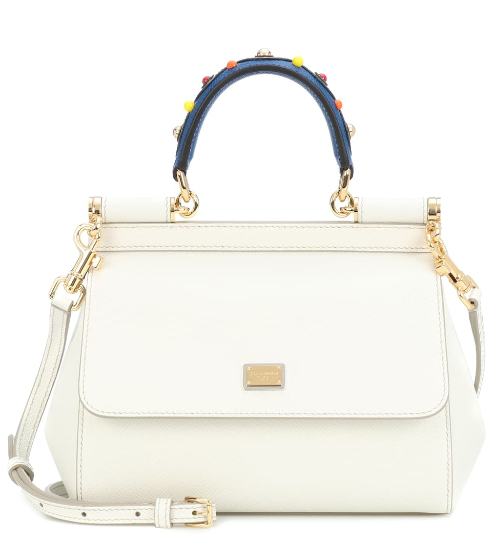 Sicily Small Leather Shoulder Bag - Dolce   Gabbana   mytheresa 63be824042