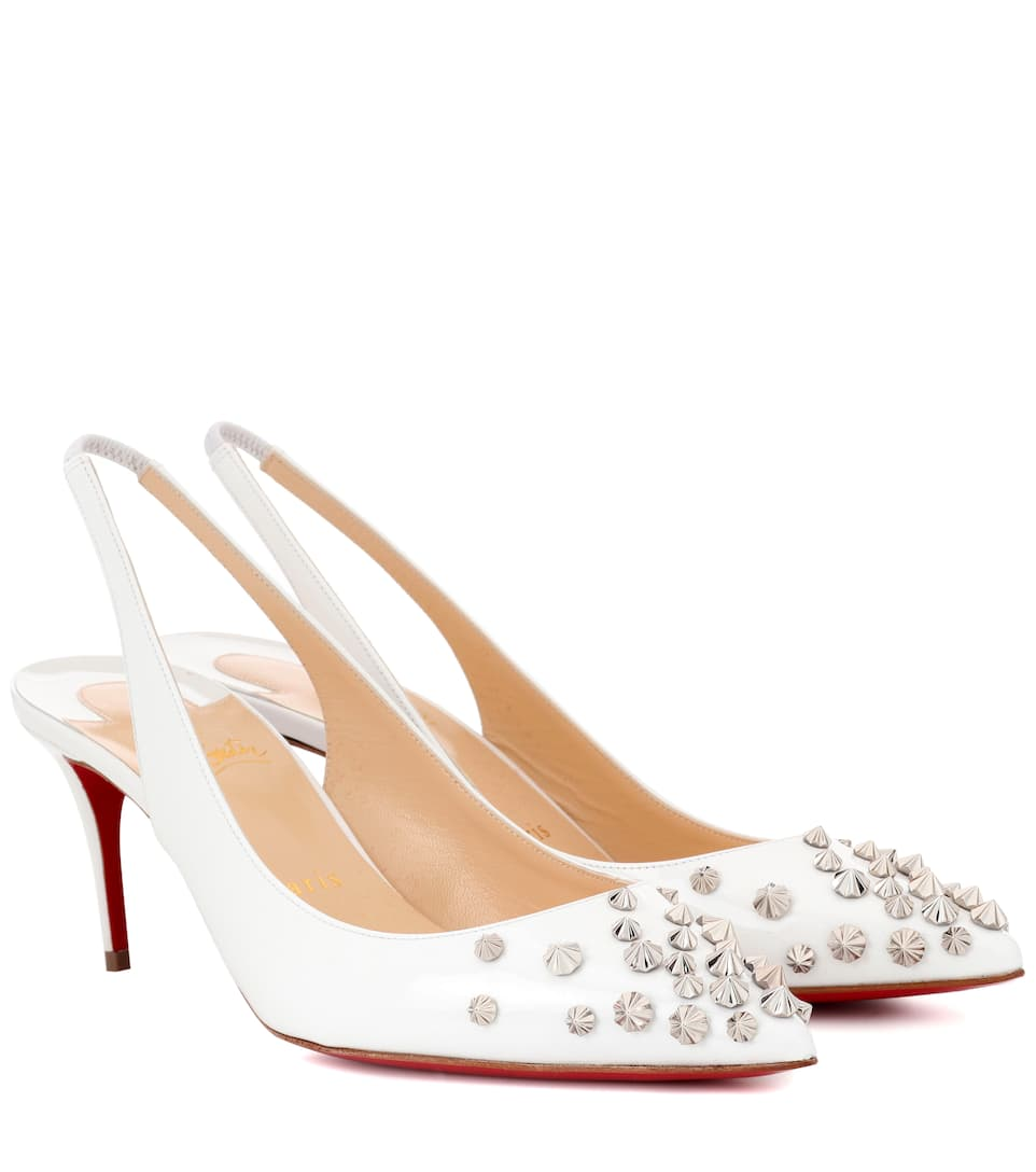 Christian Louboutin Drama Sling 70 patent leather pumps Eeszns9xhj