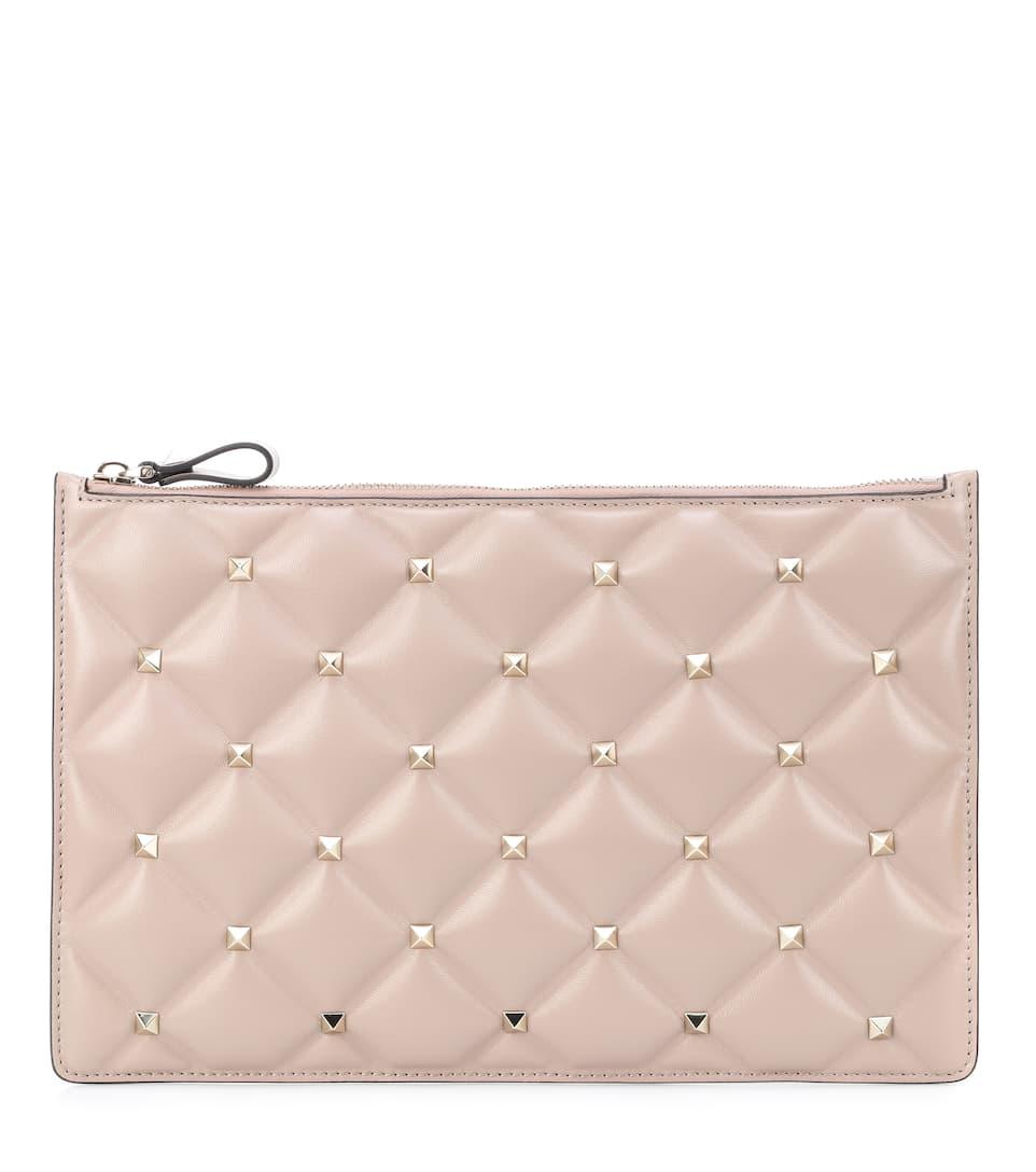 9b25e4428a Valentino Garavani Candystud Leather Clutch