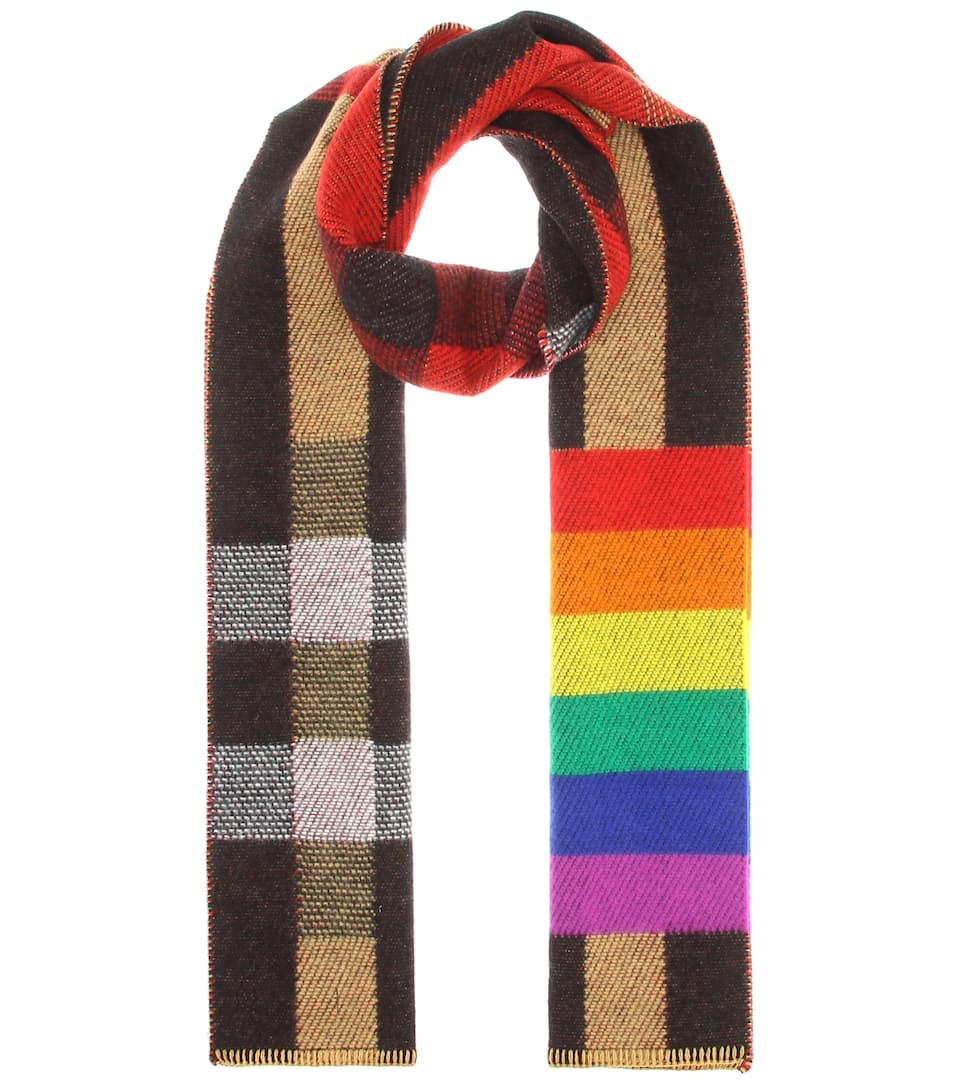 Burberry Scarves Rainbow cashmere scarf