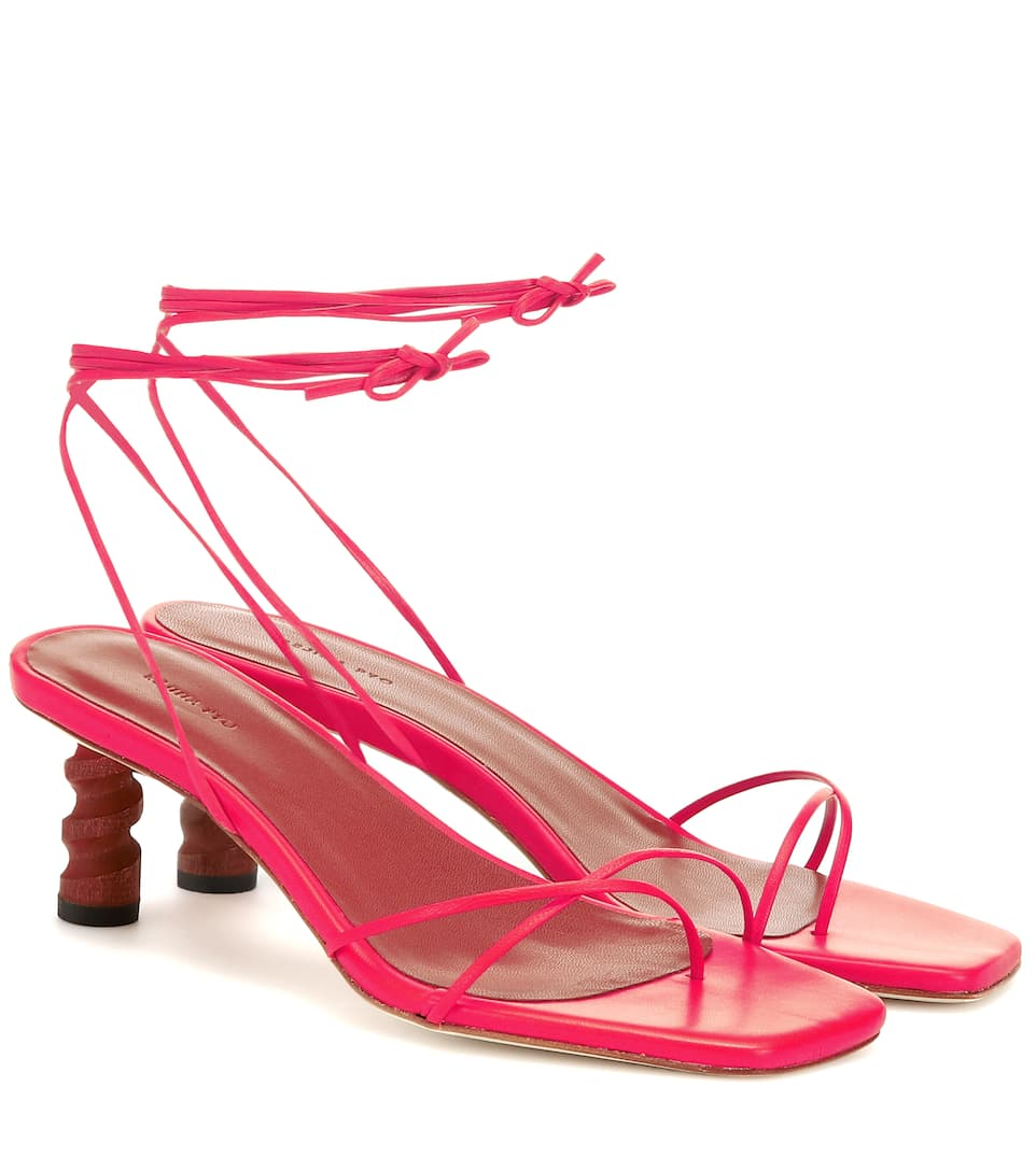 a5cfe1edeb3 Doris Leather Sandals by Rejina Pyo