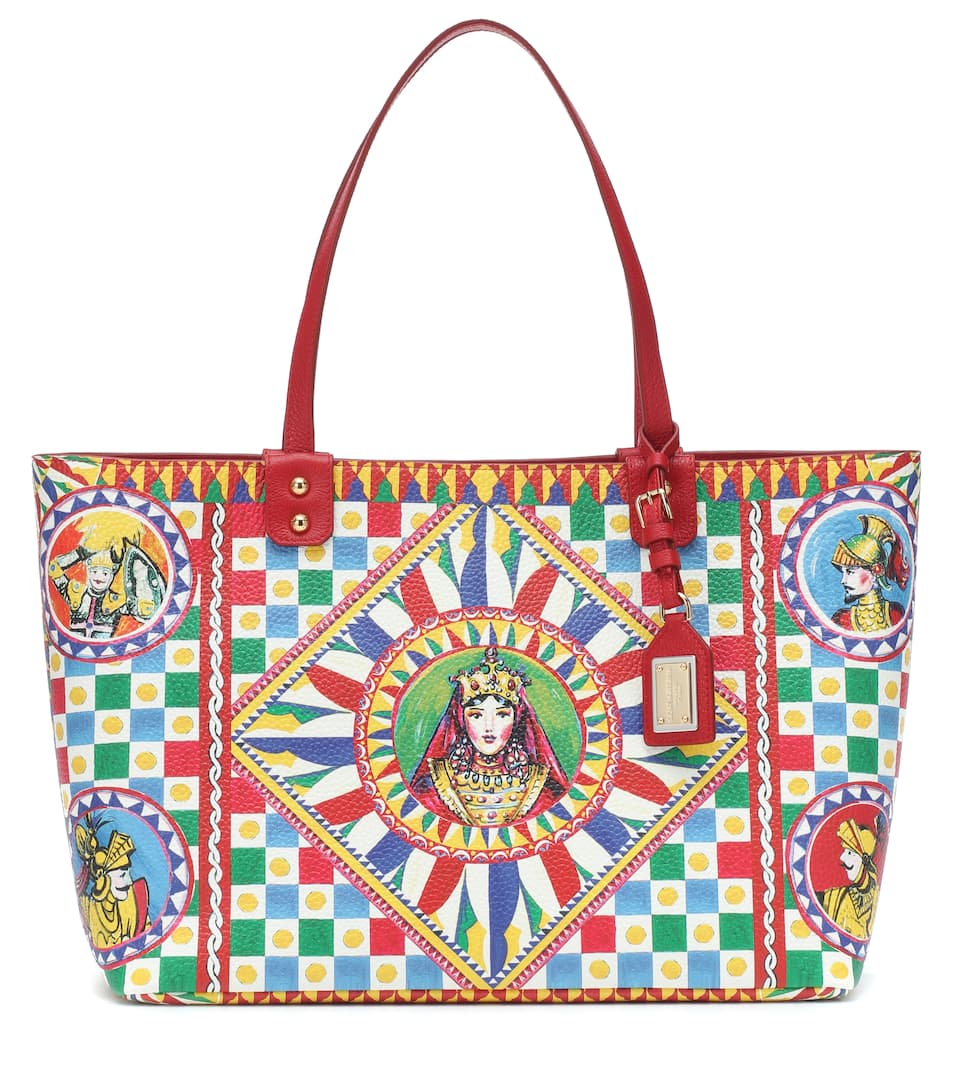 Dolce & Gabbana Totes Beatrice printed leather tote
