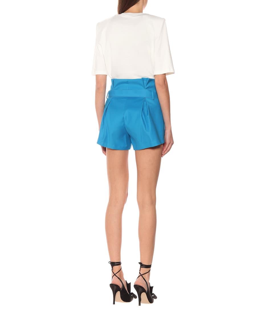 The Attico - Stretch-cotton high-rise shorts