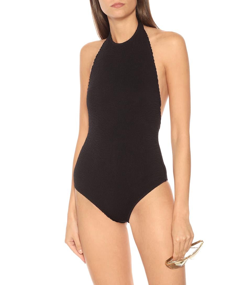 Open Back Black Swimsuit