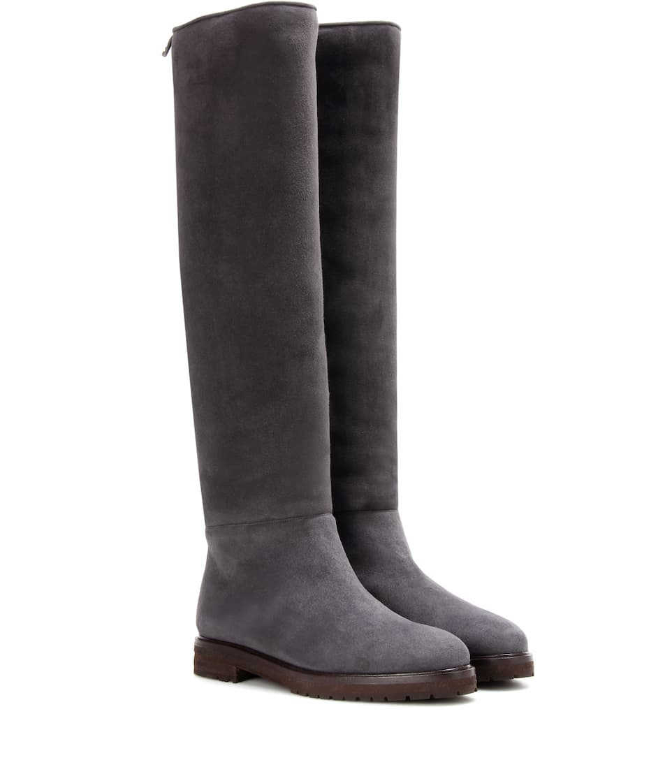 clearance 2014 unisex Loro Piana Ethel shearling-lined suede knee-high boots new styles cheap price sale in China yv01ygL9LI