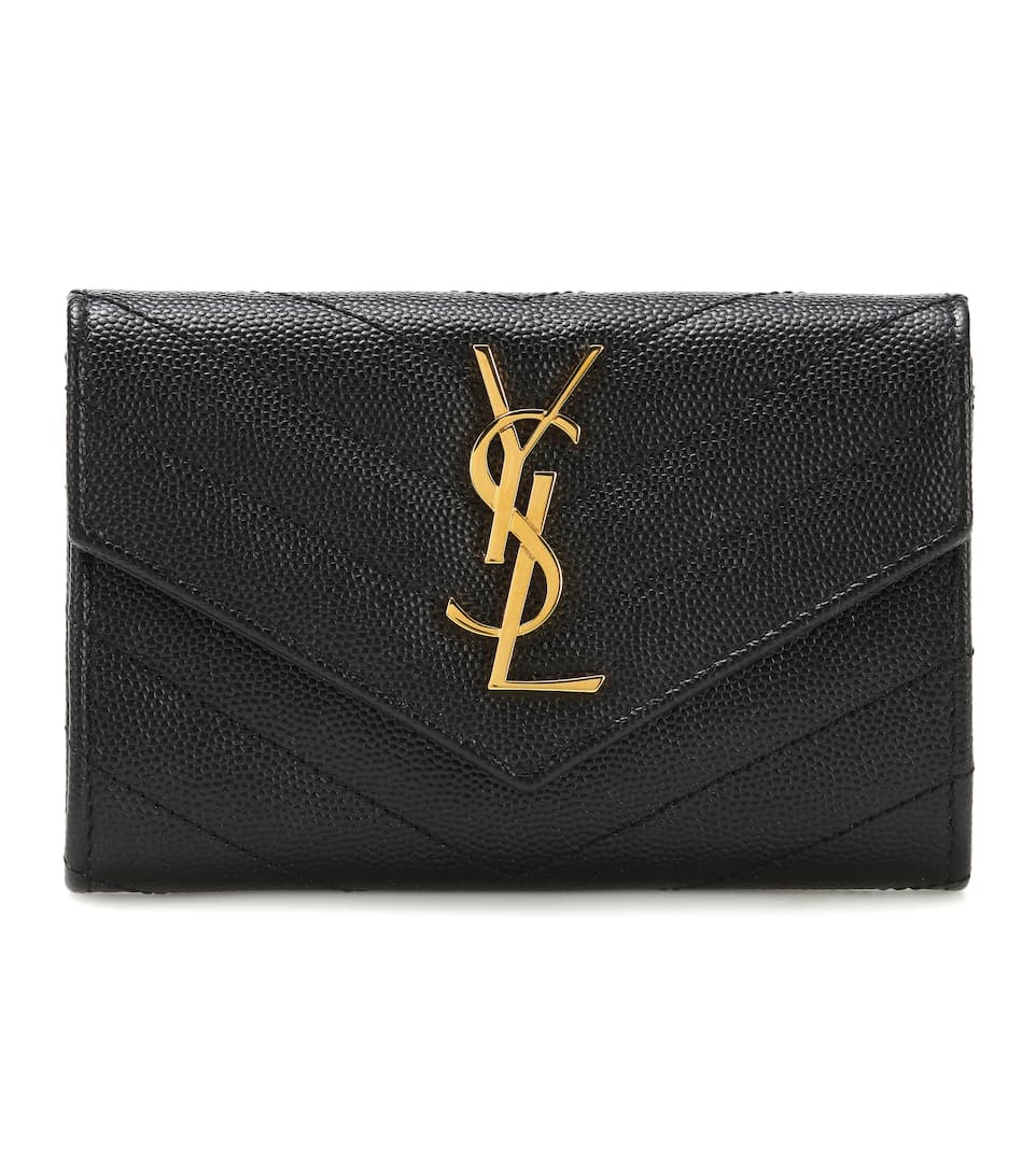 Monogram Small Leather Wallet by Saint Laurent