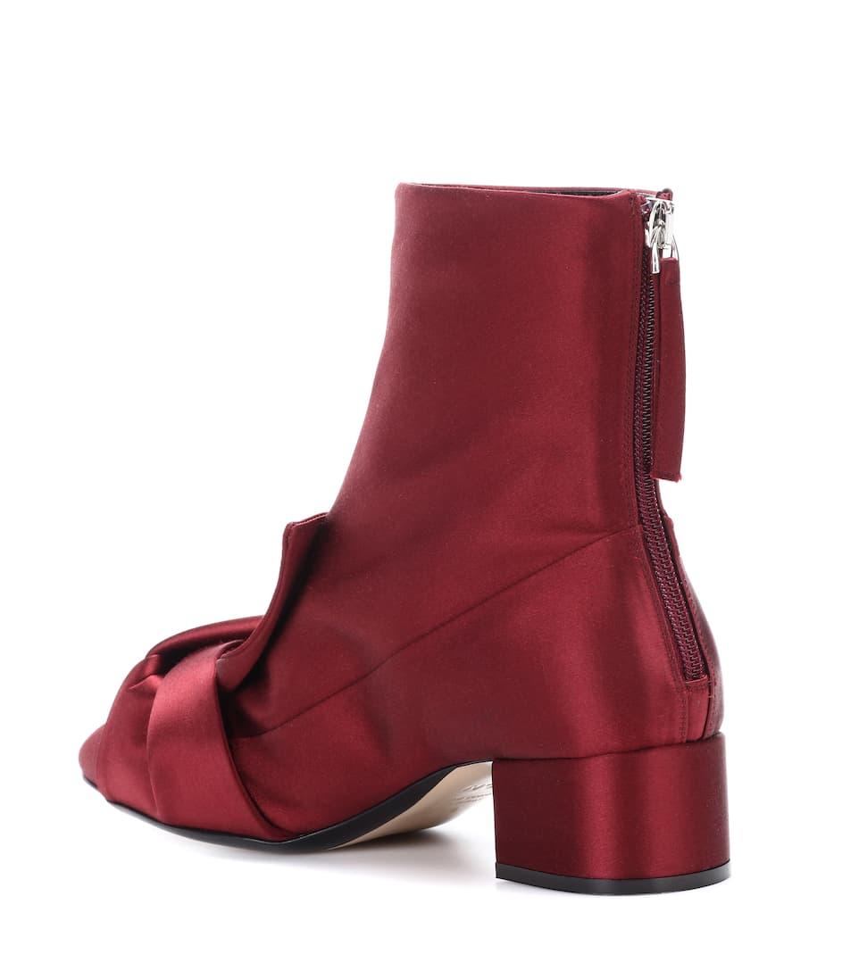 N°21 Satin ankle boots Bordeaux Buy Cheap For Nice nUPTKOA