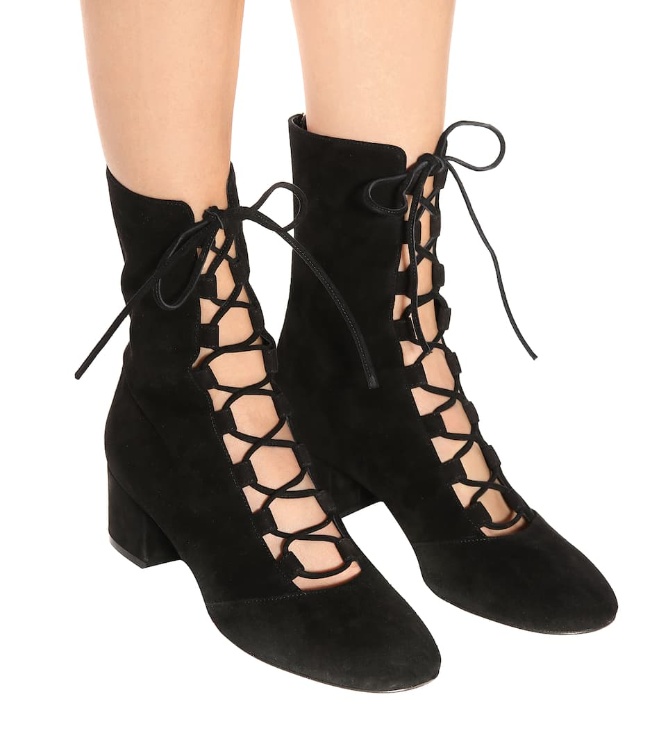 Gianvito Rossi Exclusive bei mytheresa.com – Ankle Boots Delia aus Veloursleder
