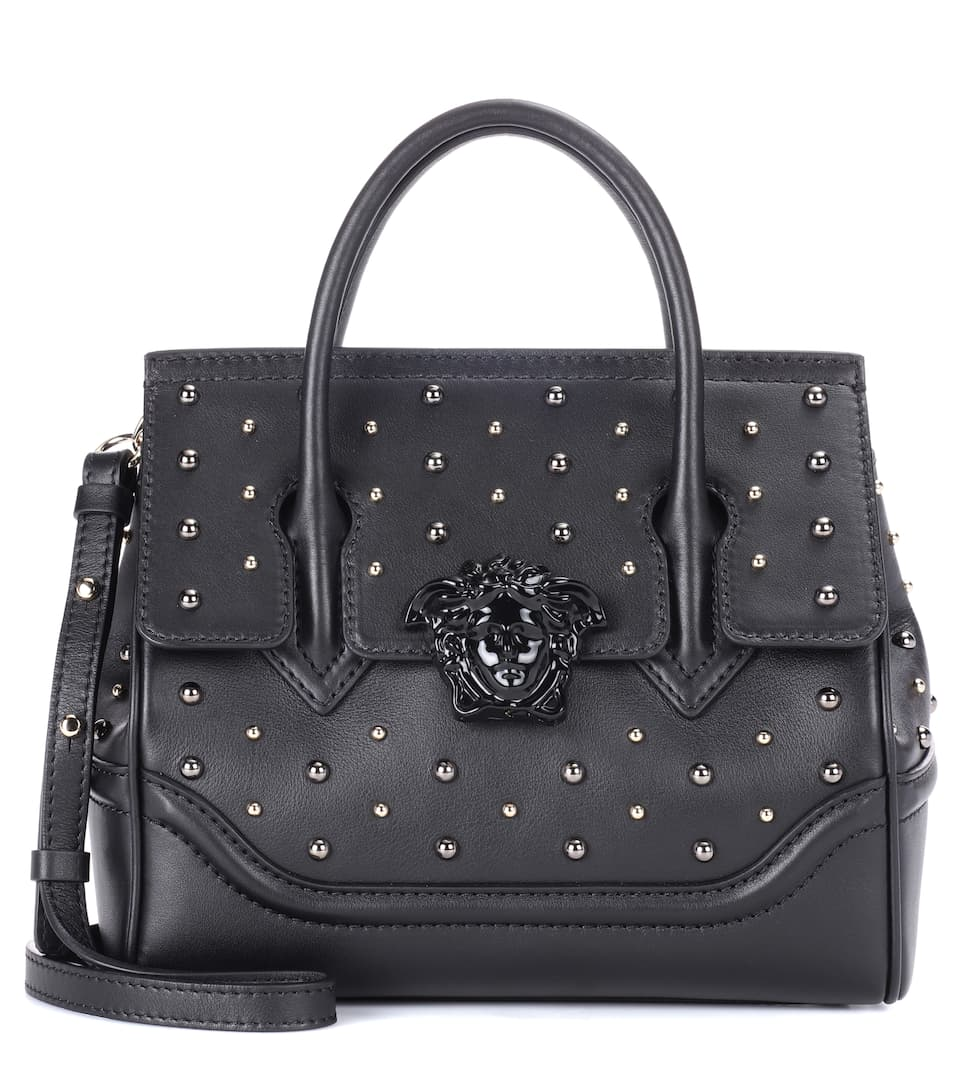 CITY STUD PALAZZO EMPIRE LEATHER TOTE