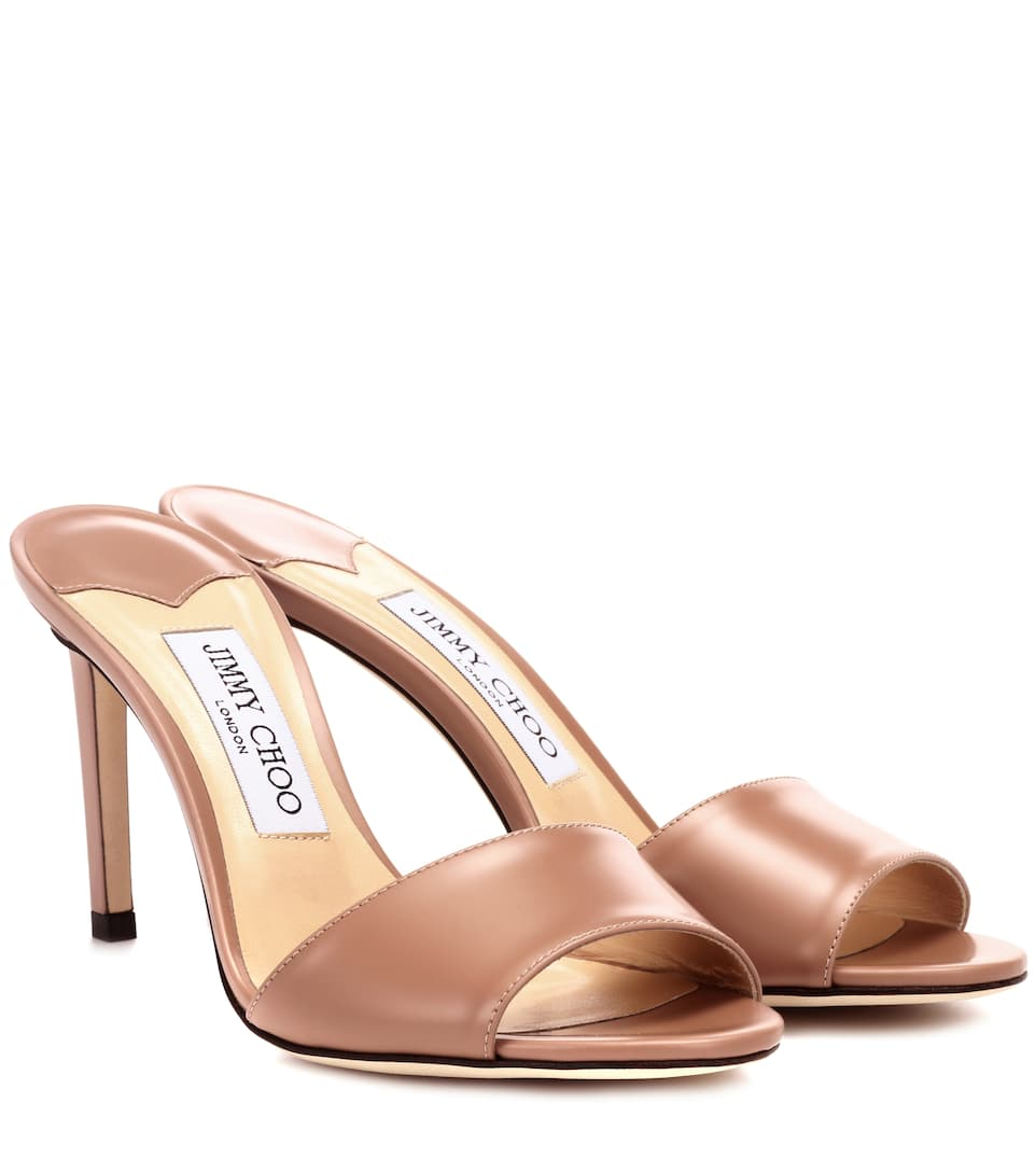 Stacy 85 Leather Sandals by Jimmy Choo