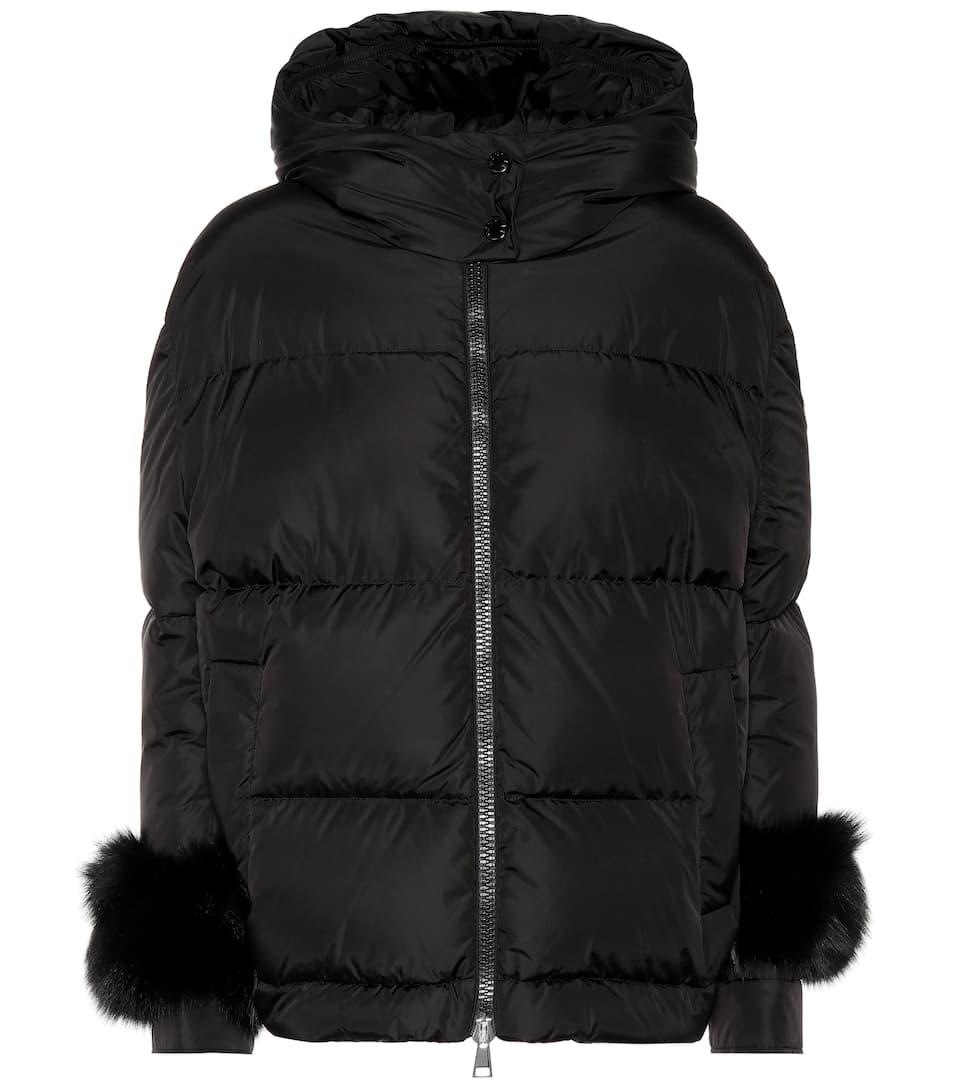 cbc18bad8b96 Effraie Fur-Trimmed Down Jacket - Moncler   mytheresa