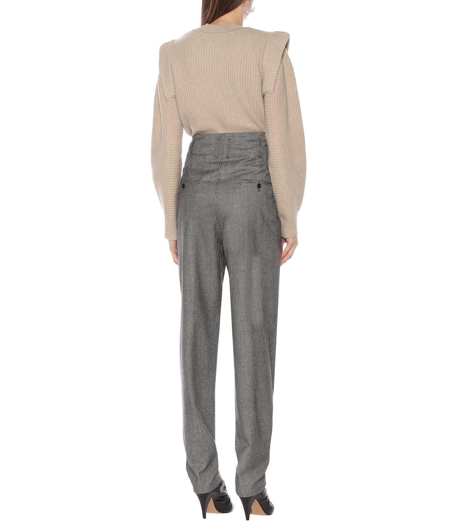 Isabel Marant - Magali high-rise checked wool pants