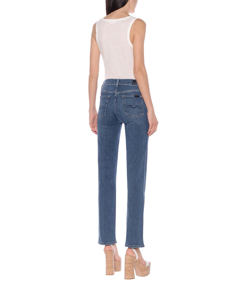 7 For All Mankind - The Straight high-rise jeans