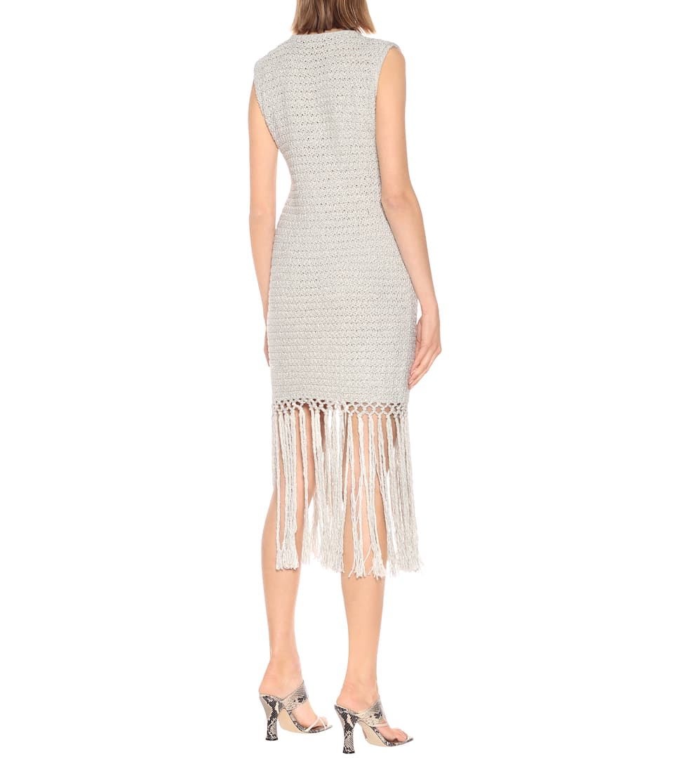 Alanui - Exclusive to Mytheresa – Fringed cotton-blend minidress