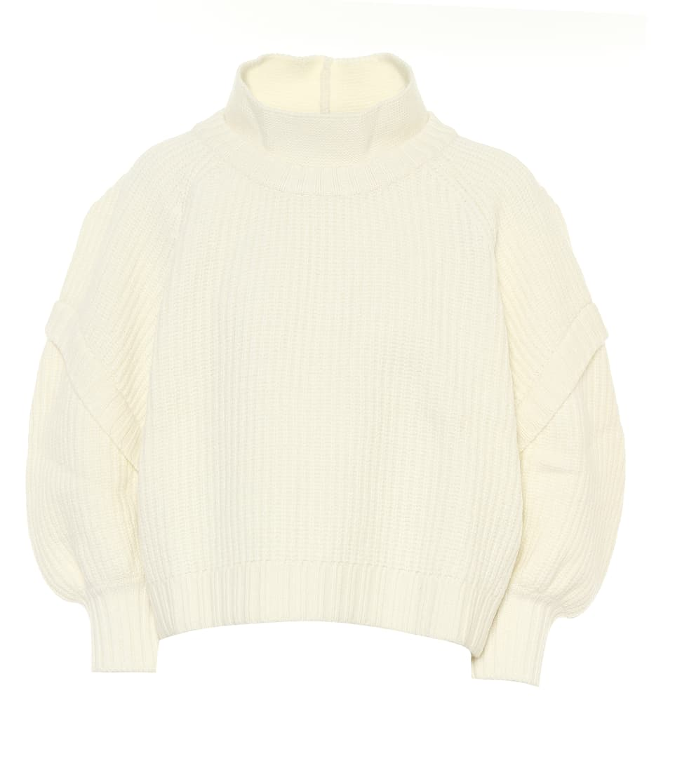 Cream Virgin Wool Sweater