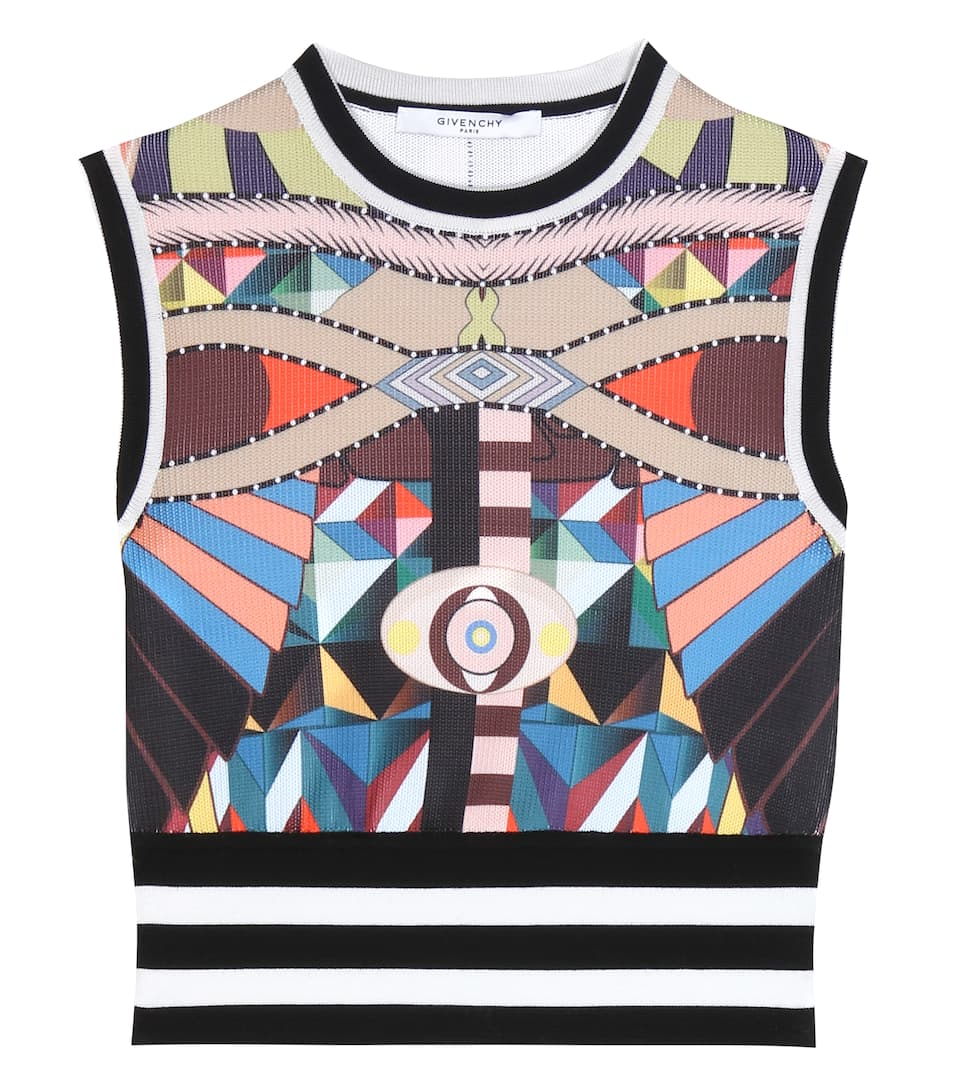 Givenchy Printed cropped top