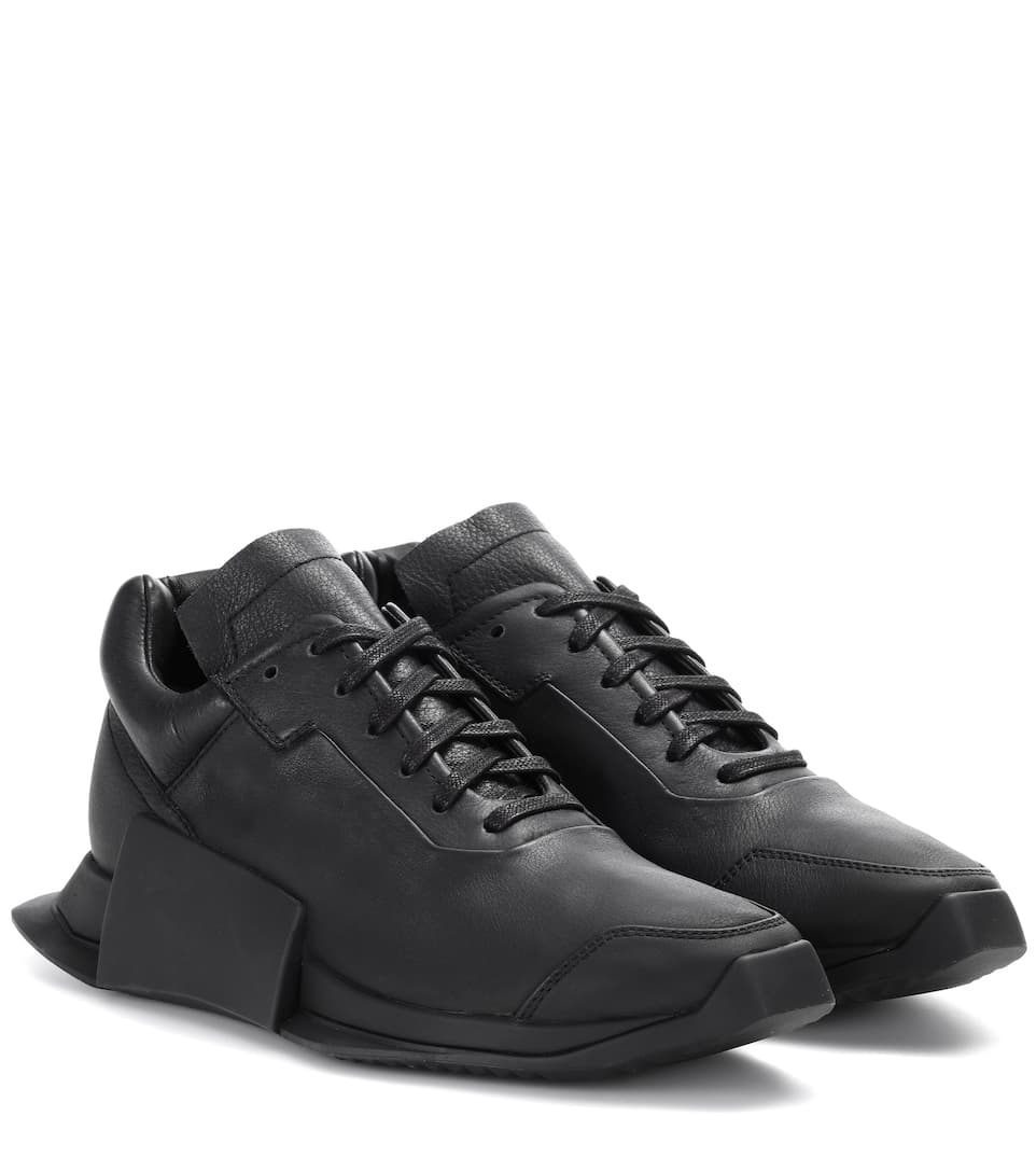 ADIDAS BY RICK OWENS Black Adidas Originals Edition New Runner Sneakers, Ro Llack
