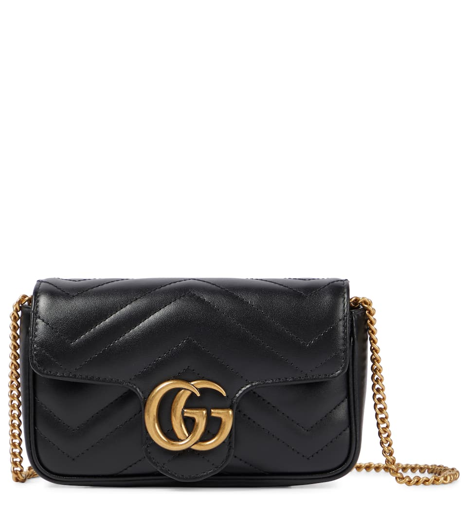 b79c2f2e278e Gg Marmont Mini Leather Shoulder Bag - Gucci | mytheresa.com