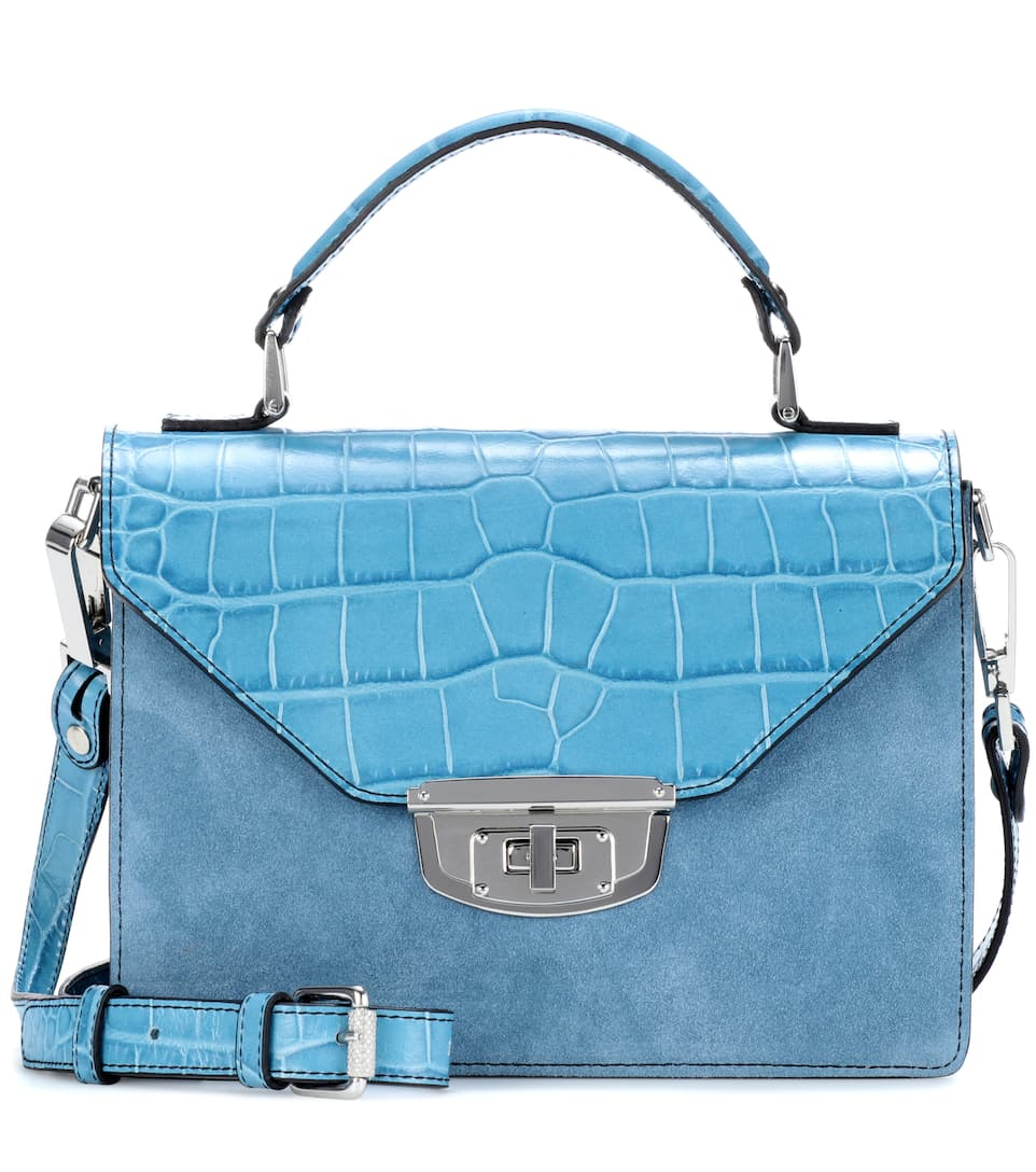 Exclusive to mytheresa.com - Gallery embossed leather and suede shoulder bag Ganni MjFqCrqR8U