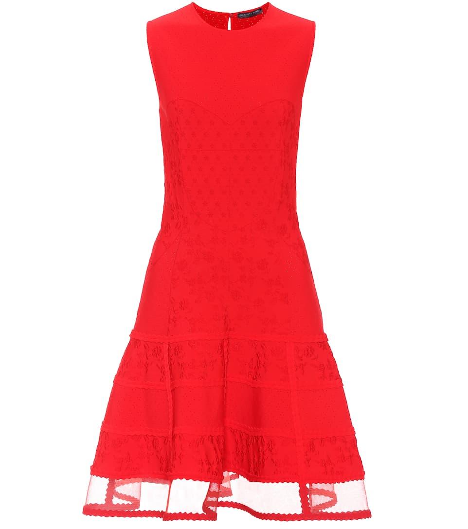 Alexander McQueen Kleid aus Jacquard-Strick