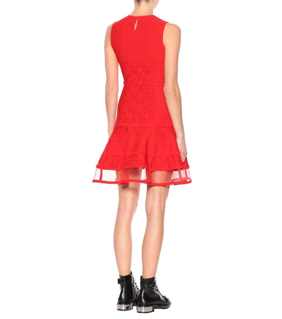 Alexander McQueen Kleid aus Jacquard-Strick Low-Cost Online eFjv9j435