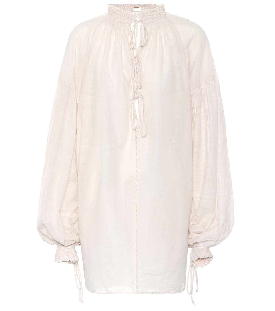COTTON AND SILK BLOUSE