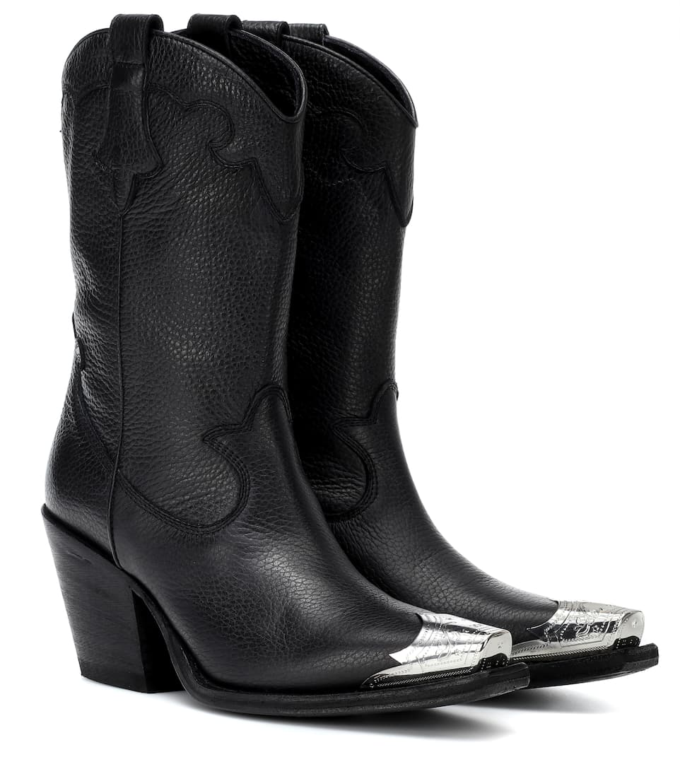 Alexander McQueen Tammy leather cowboy boots