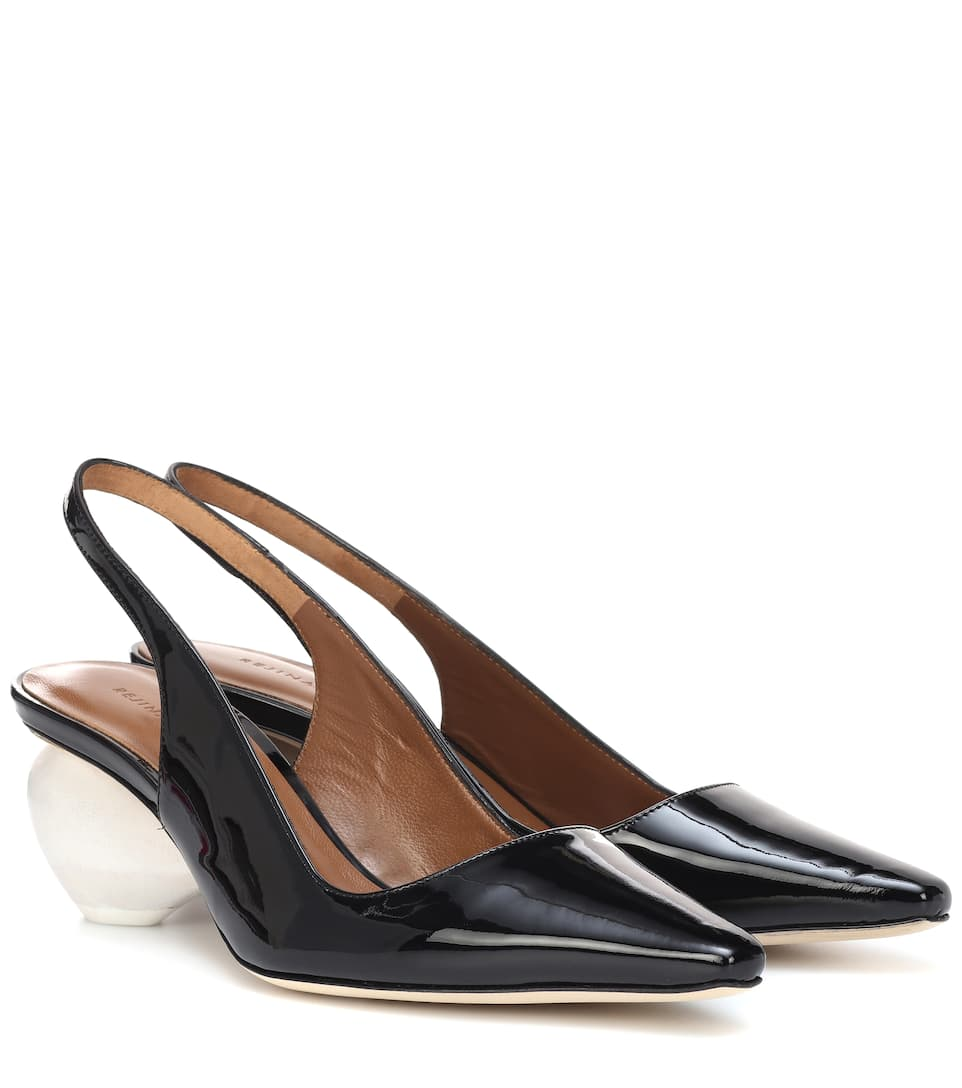 Margot Patent Leather Slingback Pumps by Rejina Pyo