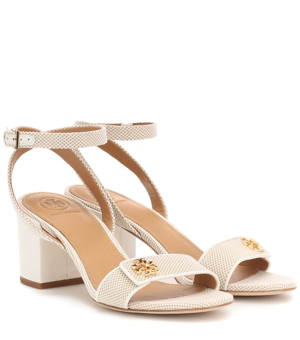 4bd5a2f76f6 Tory Burch - Kira leather-trimmed canvas sandals