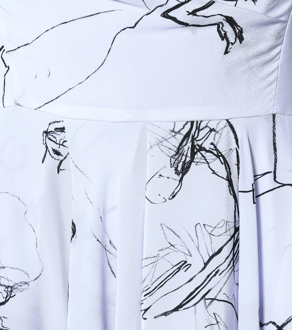 Alexander McQueen - Printed silk midi dress