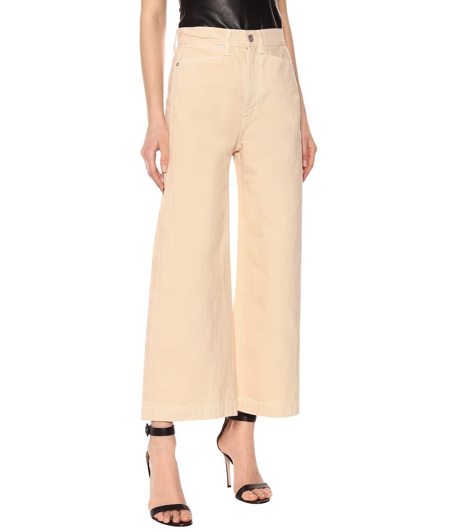 Proenza Schouler - High-rise wide cotton pants