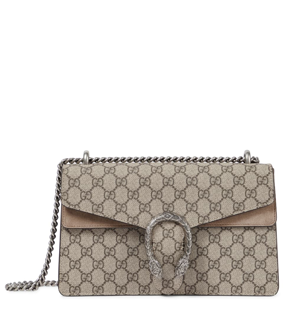 fb3821b6ff3 Dionysus Gg Supreme Small Coated Canvas And Suede Shoulder Bag - Gucci