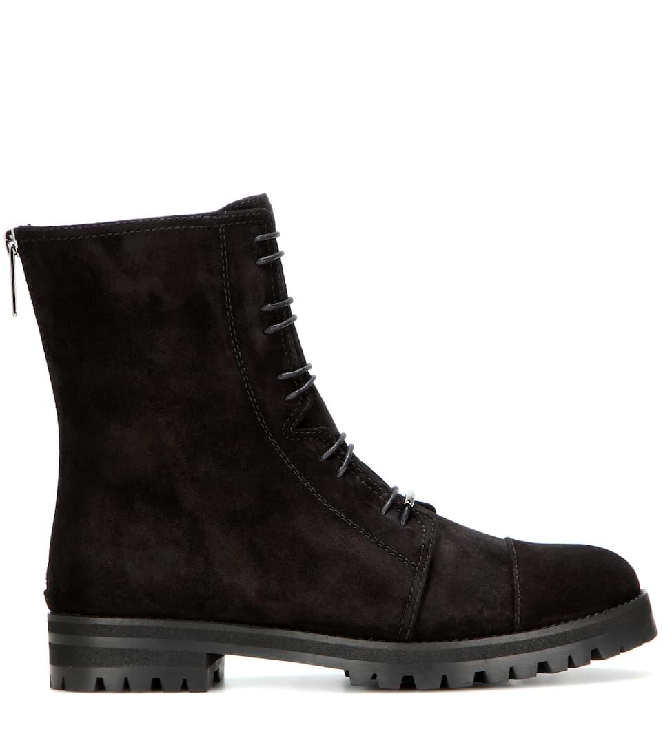 jimmy choo flat suede boots mytheresa