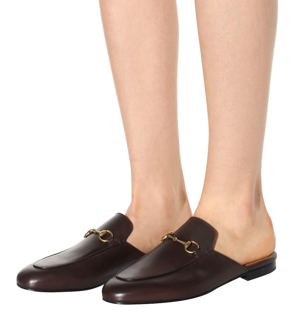 Online Niedrigsten Preis Online Gucci Leder-Slippers Princetown Real Für Verkauf Billig Klassisch Freiraum 100% Authentisch rzPFZJAK