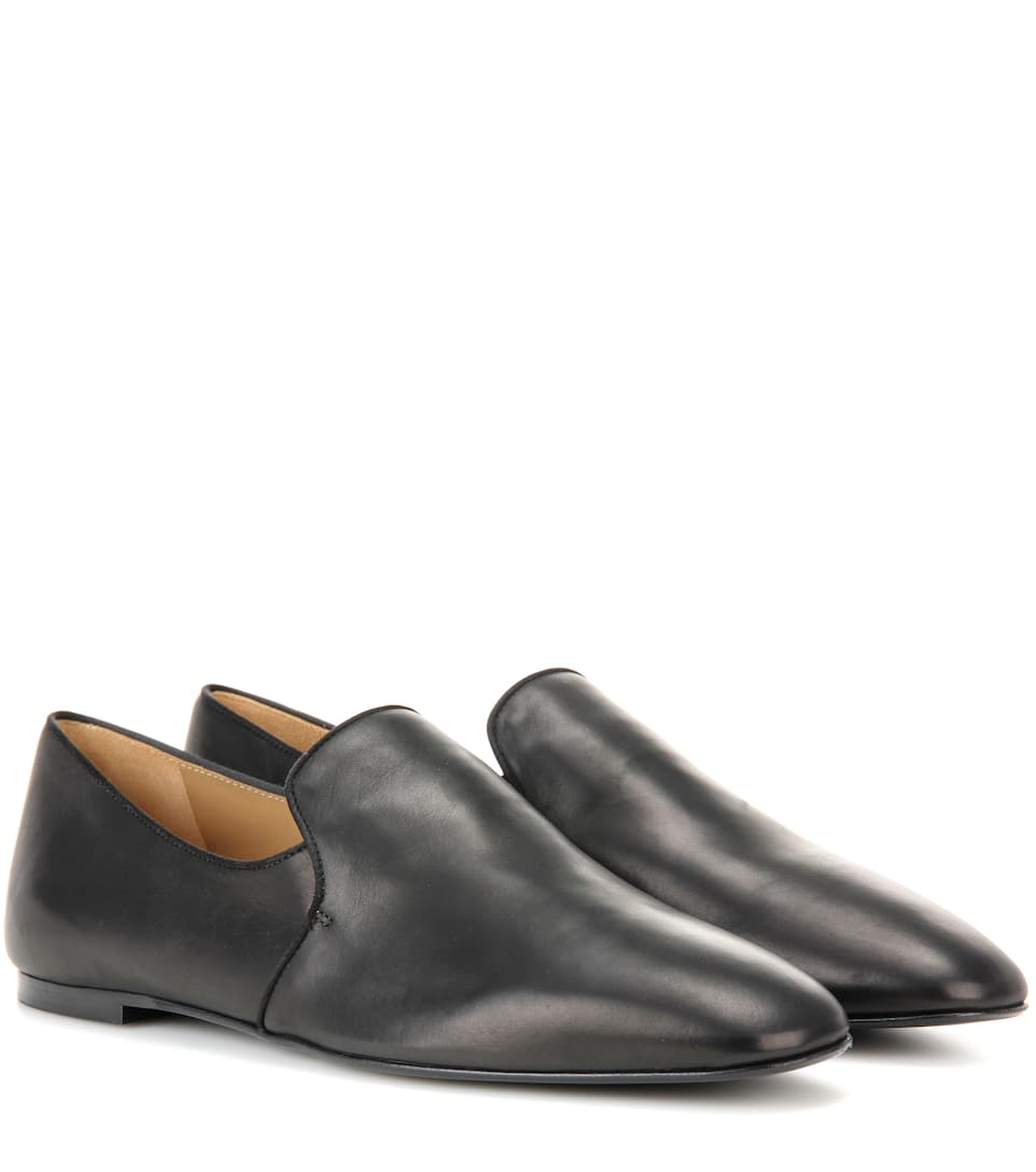 The Row Alys leather slippers UF8kJM