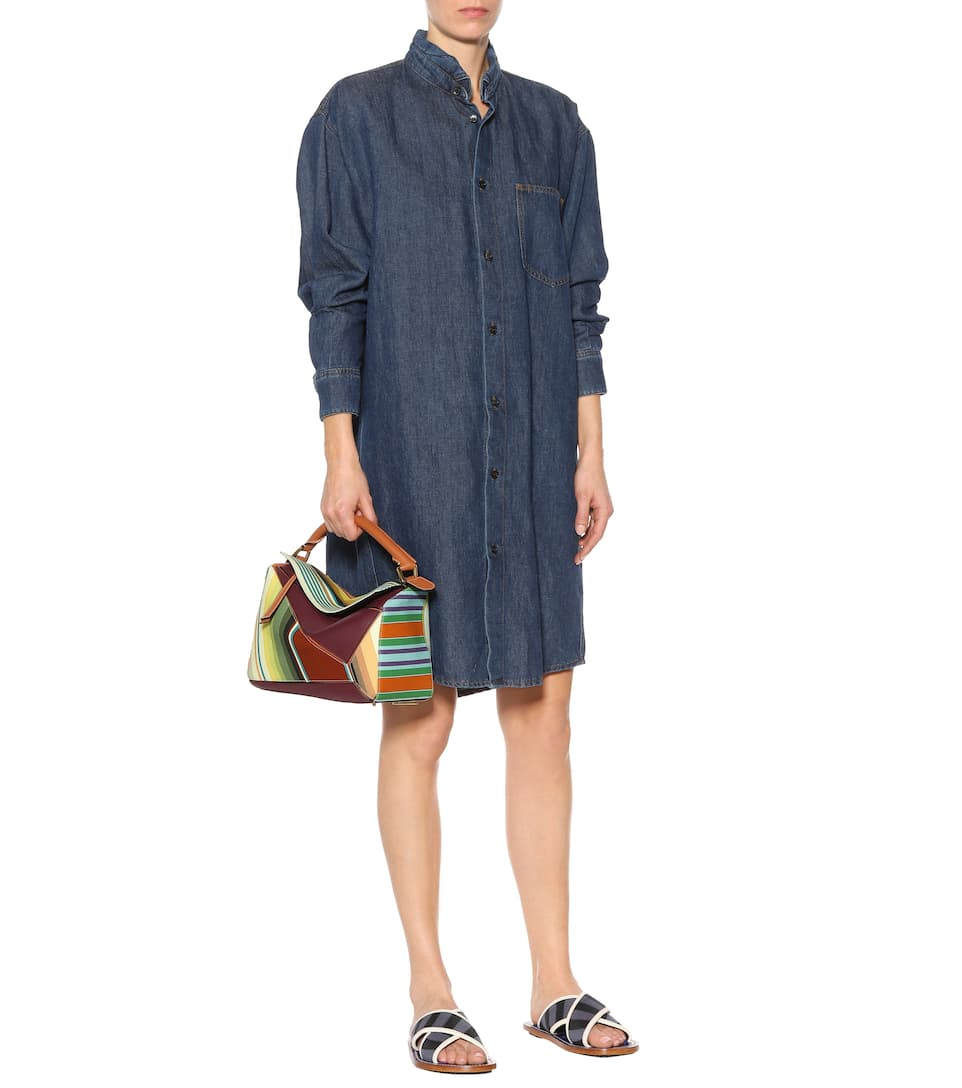 Huge Range Of Outlet Discount Marni Cotton and linen denim dress Denim Visit New Cheap Price Free Shipping For Nice j28NQ2