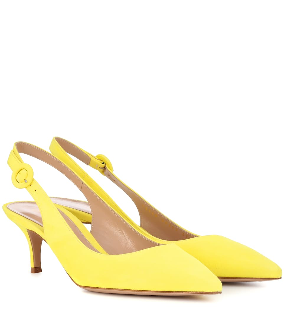 d3f45936c97 GIANVITO ROSSI EXCLUSIVE TO MYTHERESA.COM - ANNA 55 SUEDE SLINGBACK PUMPS