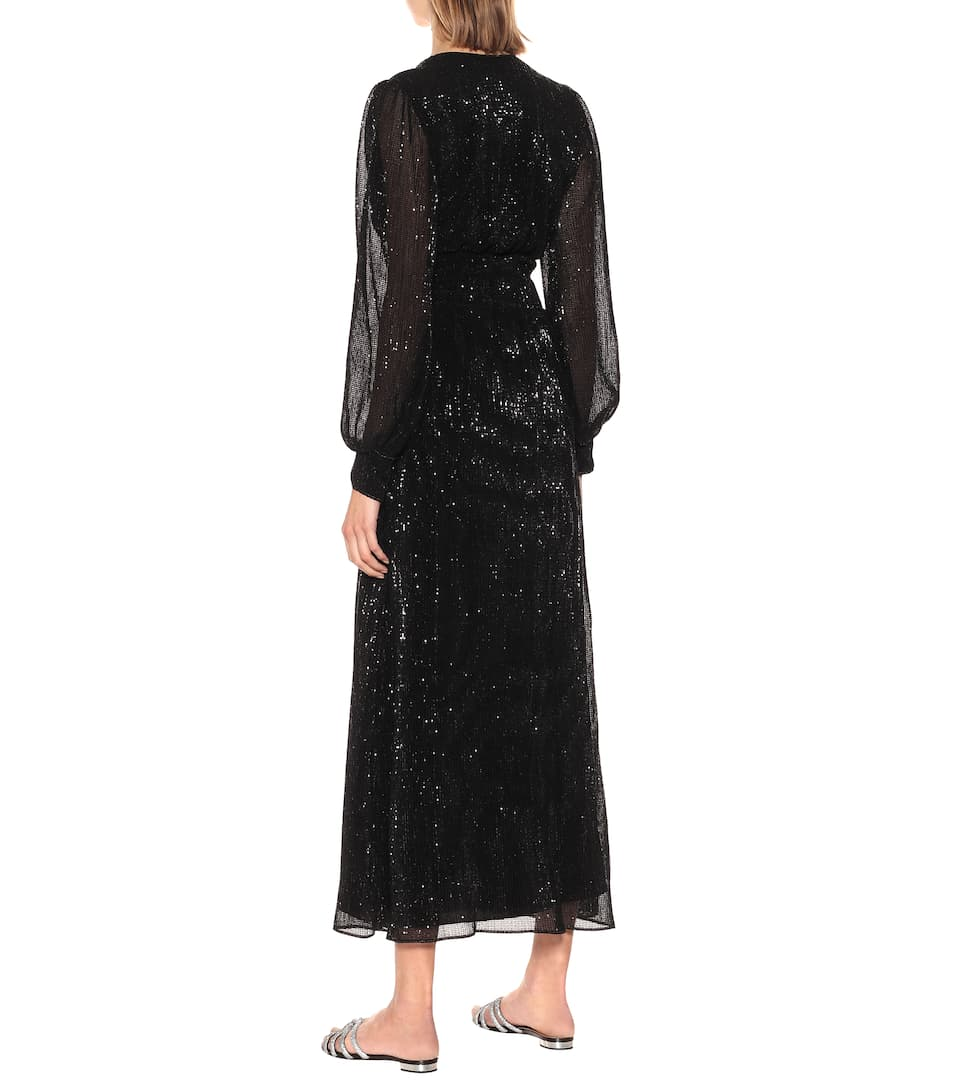Oséree - Exclusive to Mytheresa – Sequined satin maxi dress