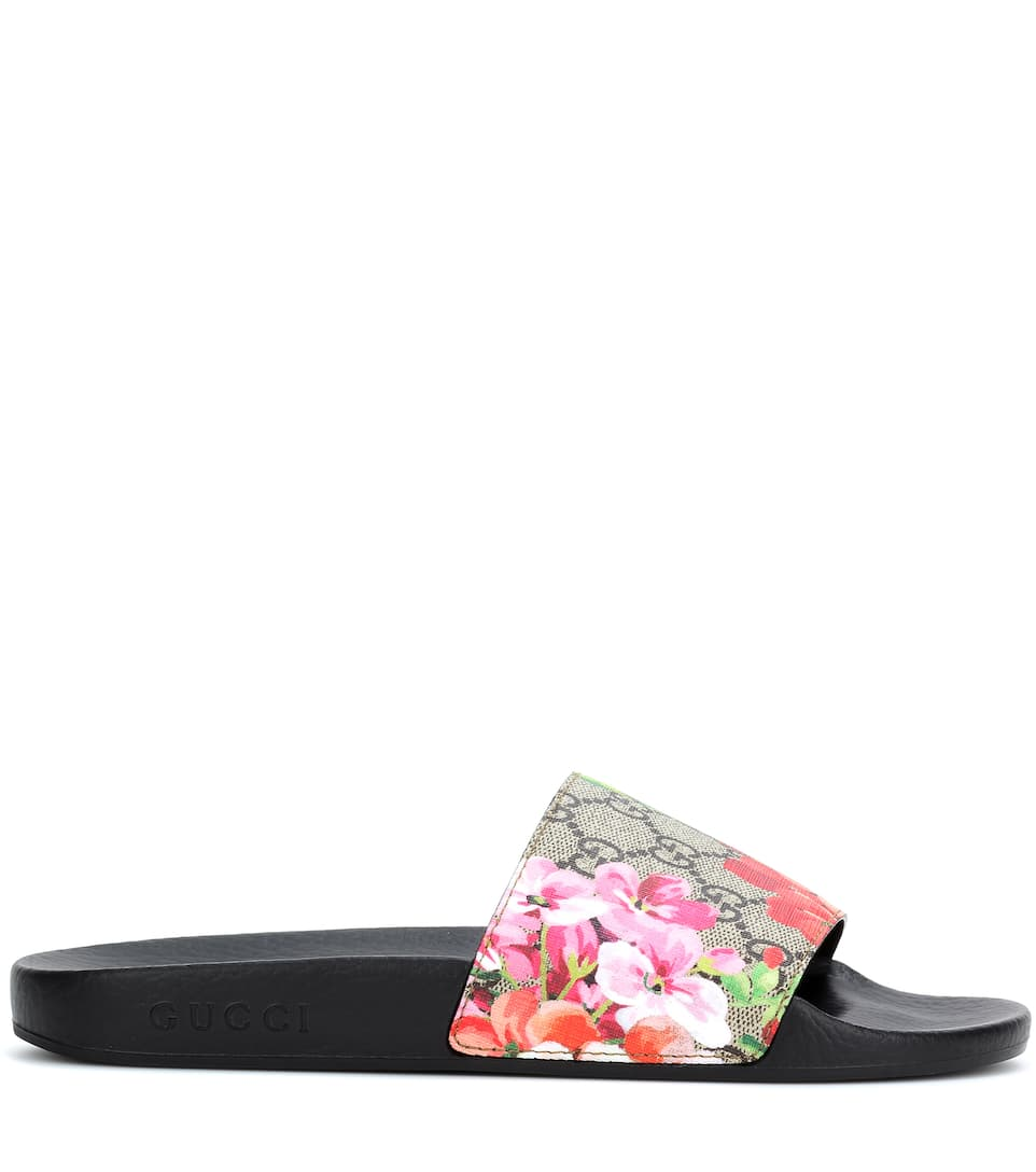 aaad8a38248c GG Blooms Supreme slides. Gucci