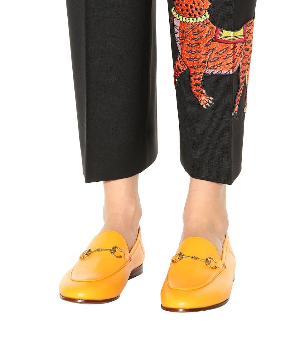 Gucci Loafers aus Leder mit Horsebit-Detail Spielraum Versorgung NwUfSeIy