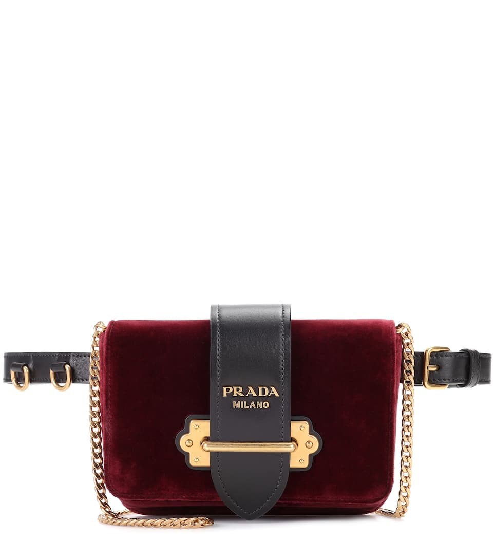 Prada belt bag velvet