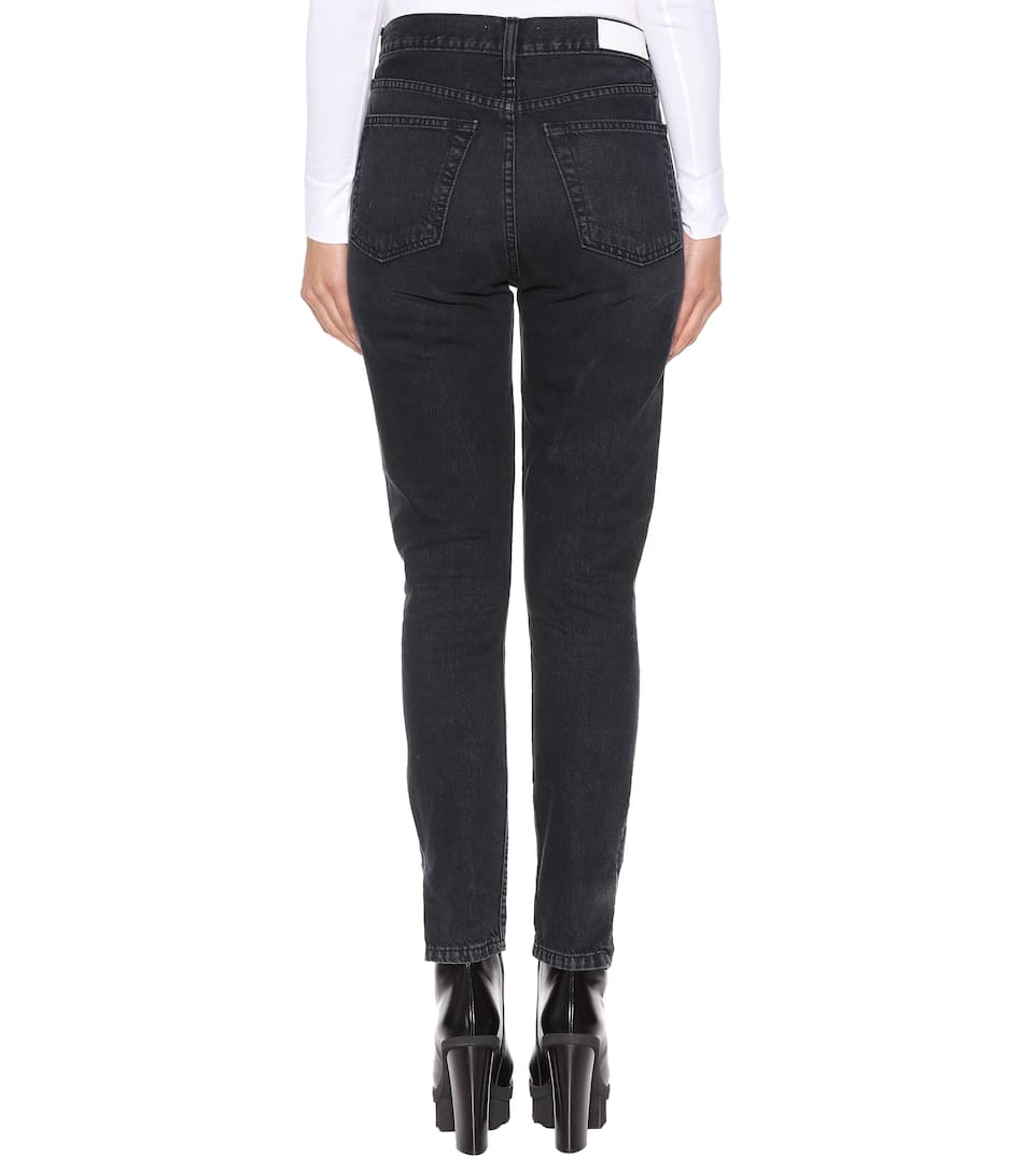 Re/Done High-Rise Jeans Ankle Zip