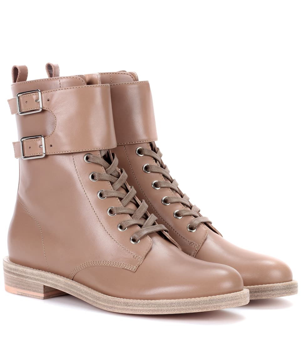 LAGARDE LEATHER COMBAT BOOTS