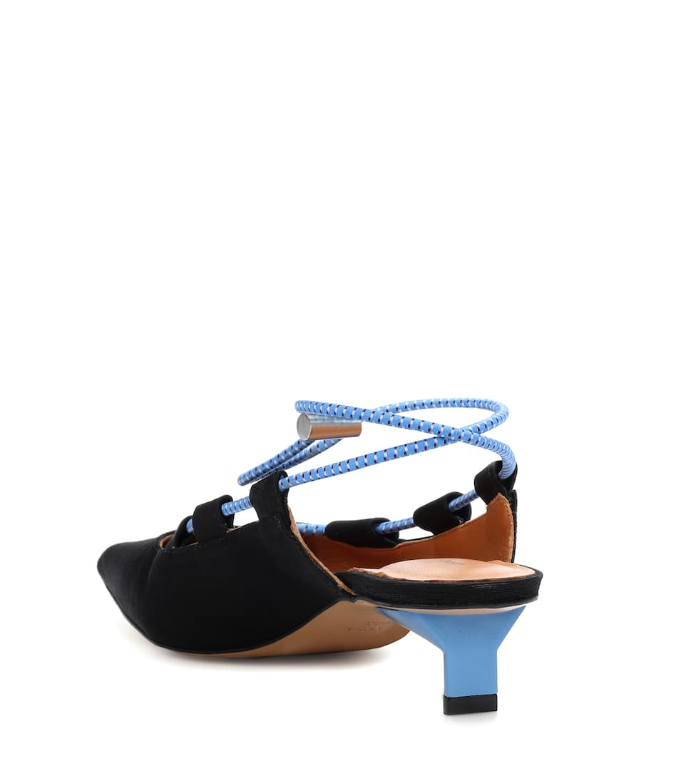 Ganni Mules With Lacing