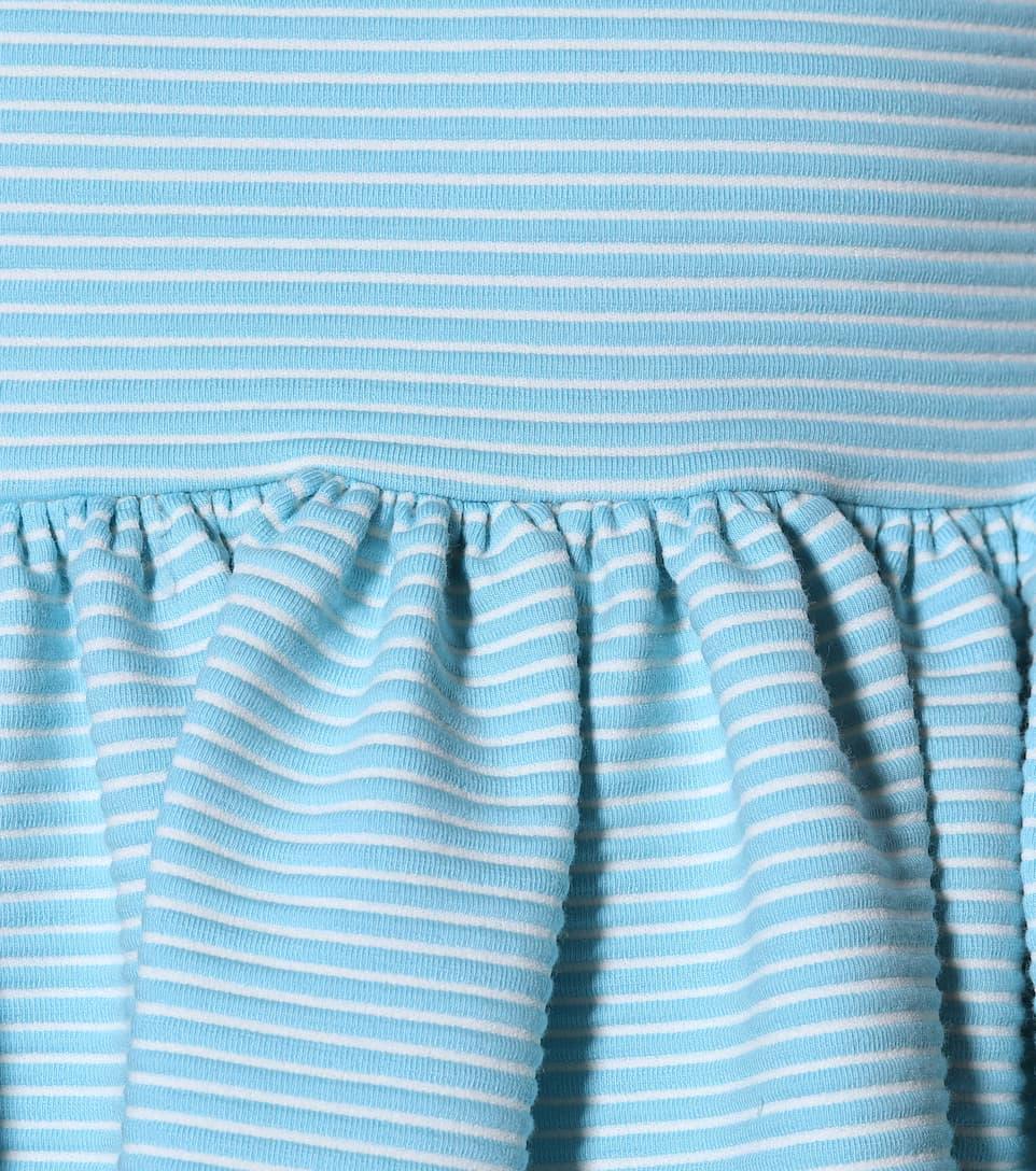 officiel Miu Miu - Robe en coton mélangé à rayures Expédition Des Frais Bas Prix Nouvelle Mode D'arrivée De Nombreux Types De Ligne Pas Cher Vente Grande Vente 5heHPX