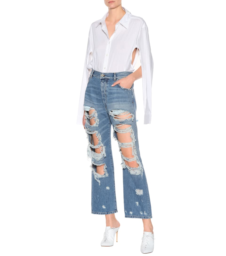 Unravel Distressed High-Rise Jeans