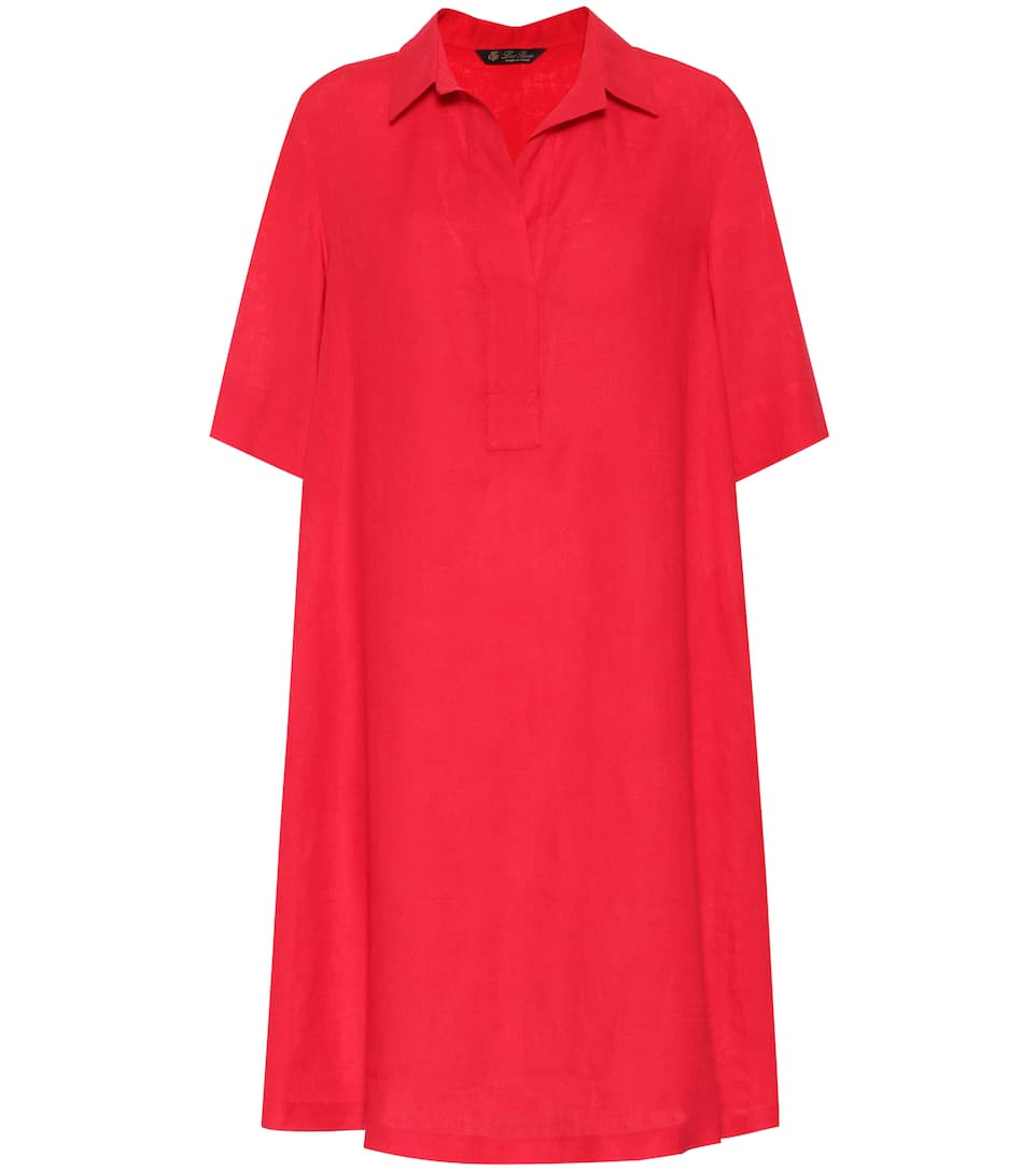 Linen Shirt Dress - Loro Piana